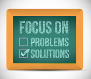 Focus on solutions check mark illustration Royalty Free Stock Photography