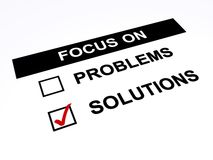 Focus on solutions Stock Images