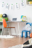 Focus space for your kid. Comfortable inspiring focus space for your kid and teenager Royalty Free Stock Images