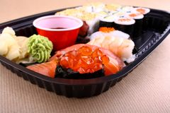 Focus on special ikura sushi menu Royalty Free Stock Photography