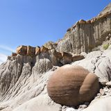 Focus Stacked Image of Concretions in Theodore Roosevelt North U. Focus Stacked Image of The Concretions Located in Theodore Roosevelt National Park, North Unit Royalty Free Stock Photo