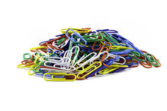 A stack of paper clips isolated against a white background Stock Photography