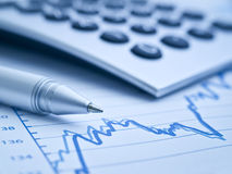 Focus on statistics Royalty Free Stock Photos
