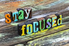 Free Focus Stay Focused Objective Success Perspective Plan Positive Motivation Attitude Stock Image - 167984251