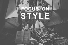 Focus On Style Message Concept.  Stock Photo