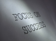 Focus on success Stock Images