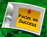 Focus On Success Photo Shows Achieving Goals Royalty Free Stock Photography