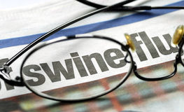 Focus on swine flu Stock Photo