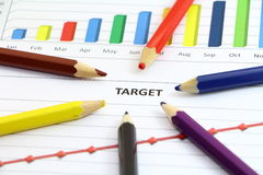 Focus on target Stock Photo