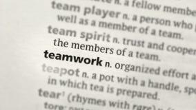 Focus on teamwork stock video footage
