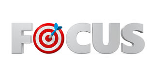 `FOCUS` Text and Darts Stock Photography