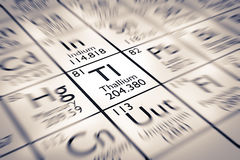Focus on Thallium Chemical Element. From the Mendeleev Periodic Table royalty free stock photo