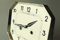 Focus on tips of hand with strong depth of field on an antique watch Royalty Free Stock Image