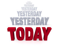 Focus On Today, Not Yesterday Royalty Free Stock Images