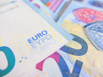 Focus on twenty euro banknote Royalty Free Stock Photos