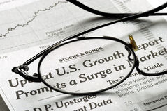 Focus on U.S. Growth in the economy. Focus on the growth in the U.S. economy Royalty Free Stock Photos