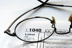 Focus on the United States Income Tax 1040. Focus on the United States Income Tax Return 1040 Stock Image