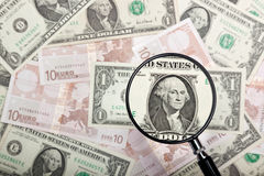 Focus on US currency Royalty Free Stock Photography