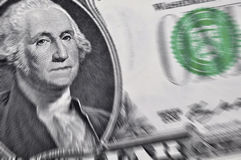 Focus on US dollar bill Royalty Free Stock Images