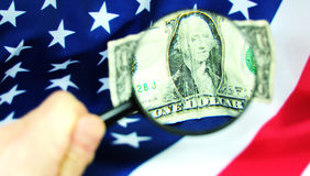 Focus on US economy Royalty Free Stock Image