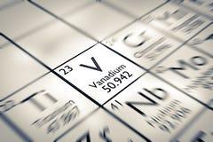 Focus on Vanadium Chemical Element Stock Photos