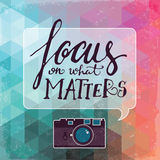 Focus on what matters vector poster Royalty Free Stock Images