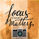 Focus on what matters vector poster Stock Photography