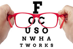 Focus on what works Stock Photography
