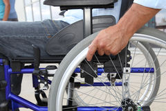 Focus on wheelchair Stock Image