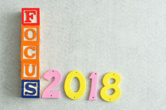 Focus 2018. On a white background Royalty Free Stock Photography