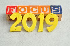Focus 2019. On a white background Royalty Free Stock Image