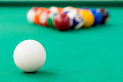 Focus on the white ball for playing Royalty Free Stock Image