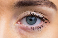 Focus on womans eyes royalty free stock photos