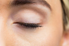 Focus on womans eyes. Focus on womans eye in a studio Royalty Free Stock Images