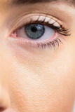 Focus on womans eyes stock photo