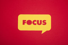 The focus word in a bubble Royalty Free Stock Photos