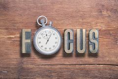 Focus watch wooden Royalty Free Stock Images