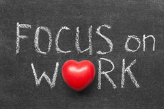 Focus on work royalty free stock image