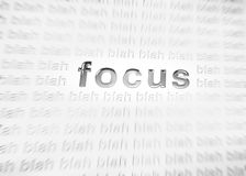 Focus in the workplace Royalty Free Stock Image
