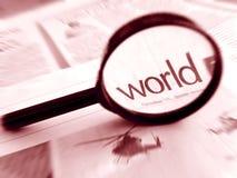 Focus on world news Stock Photo