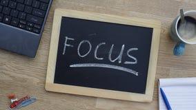 Focus written Stock Images