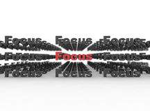 Focuse - business concept. Focus highlighted key word for success Royalty Free Stock Image