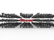focuse de concept d'affaires Image libre de droits