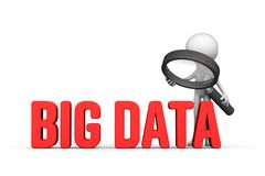 Focused on big data concept royalty free illustration