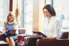 Focused business colleagues with digital tablet Stock Photography