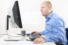 Focused businessman at the office Stock Images