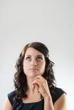 Focused businesswom Royalty Free Stock Photo