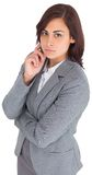 Focused businesswoman Royalty Free Stock Photo
