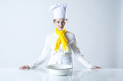 Focused cook Royalty Free Stock Images