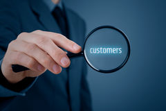 Focused on customers Stock Photography